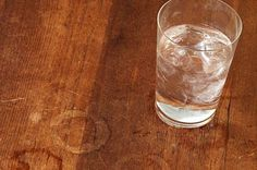 How To Remove Water Stains from Wooden Furniture - Quiet Corner Lifehacks, Wooden Furniture, Antique Furniture, Wood Table, A Table, Remove Water Stains, Water Rings, Old Coffee Tables, White Stain