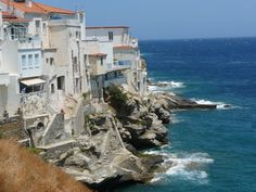 Hora, Andros, Greece Andros Greece, The Good Place, Beautiful Places, Landscapes, Around The Worlds, Magic, Italy, Island, Water
