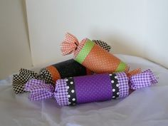 Toilet paper roll favors - use fabric or tissue paper to dress them up