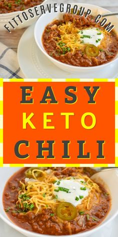 my easy low carb keto chili recipe is a little famous around these parts. Well, at least with my family and friends that is. Keto Chili Recipe, Keto Crockpot Recipes, Healthy Low Carb Recipes, Diet Recipes, Healthy Tips, Dessert Recipes, Keto Foods, Ketogenic Recipes, Ketogenic Diet