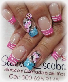 Publicación de Instagram de Sandra Escobar • 28 de Dic de 2017 a las 4:25 UTC Simple Nail Designs, Beautiful Nail Designs, Blue Nails, My Nails, Acrylic Nail Designs, Nail Art Designs, Mobile Nails, Butterfly Nail, Feet Nails