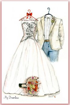 Wedding gift certificate or a wedding dress sketch created is a perfect wedding gift. Click her to see more sketch ideas. http://www.mydreamlines.com/wedding-gifts/wedding-gifts-guests/