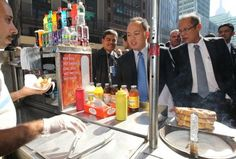 The Philippine president treating his staff to a hotdog stand instead of a fancy resto during a foreign visit.