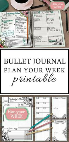 Bullet Journal weekly planner printable