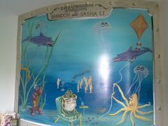 Bathroom mural for kids by Donzine Bathroom Mural, Murals For Kids, Frame, Home Decor, Picture Frame, Decoration Home, Room Decor, Frames, Hoop