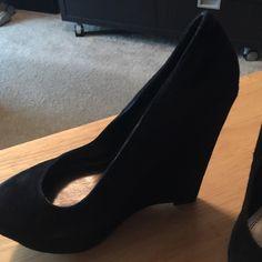 Bakers black suede wedges 5 3/4 inch Bakers black suede wedges 5 3/4 inch Bakers Shoes