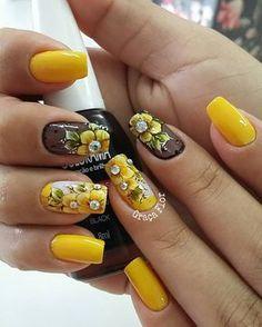 elho Creative Nail Designs, Colorful Nail Designs, Creative Nails, Nail Art Designs, Aycrlic Nails, Feet Nails, Spring Nail Art, Summer Acrylic Nails, Square Nail Designs