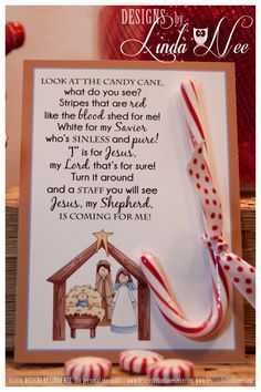 Legend of the Candy Cane Nativity - Card for Witnessing at Christmas - Jesus is the Reason for the Season - Printable - Christian - Jesus Legend of the Candy Cane - Printable 5 x 7 cards with poem that you can give away as gifts. Christmas Activities, Christmas Crafts For Kids, Christmas Projects, Holiday Fun, Holiday Crafts, Christmas Holidays, Christian Christmas Crafts, Christmas Decorations, Christmas Parties