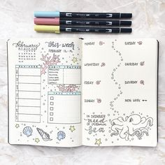 "1,882 Likes, 46 Comments - s a b i n a (@girlwithabujo) on Instagram: ""My weekly spread for next week is already finished. This time I went with way more color and a sea…"""