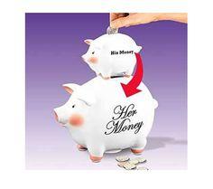 His/Her Money Piggy Bank