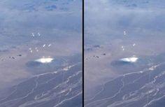Avistamento - Disco Incomum (UFO) no Deserto de Nevada Jogando Luzes e Objetos no Ar