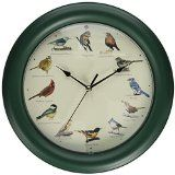 Mark Feldstein Original Singing Bird Clock, 10.7-Inch