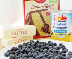 4 ingredients+delicious! Blueberry Pineapple Dessert! Super simple + tasty!