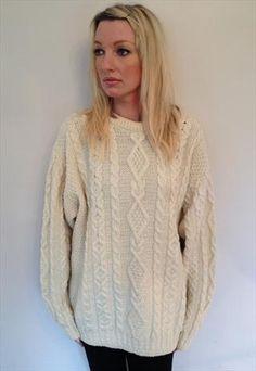 Amazing vintage cable knit jumper