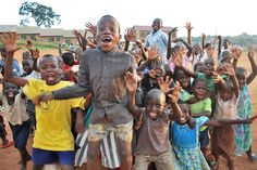 Uganda - children are all the same, no matter where they are from. They'll show off for the camera! For visual image project