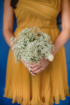 simple + striking baby's breath bouquet // photo by NinePhotography.com