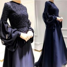 hijab dress Image may contain: one or more people and people standing. Hijab Gown, Hijab Evening Dress, Hijab Dress Party, Evening Dresses, Prom Dresses, Abaya Fashion, Muslim Fashion, Fashion Dresses, Dress Outfits