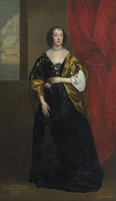 ca. 1637 Anne Cavendish by Anthonis van Dyck (auctioned by Christie's)   Grand Ladies   gogm