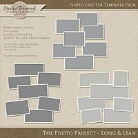 The Photo Project - Photo Clusters Long and Lean Template Pack
