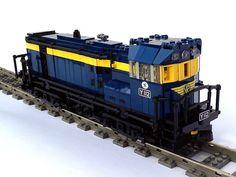 YClass locomotive (by Mike Pianta) #LEGO #train