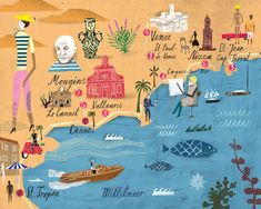 Map of southern France by Martin Haake.