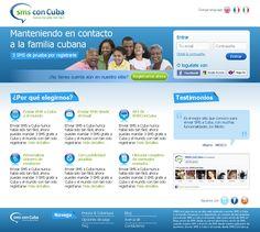 Sitio de recargas SMS con Cuba