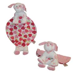 This soft, animal Snuggle Buddy LOVIE is just what your child wants to snuggle, hold, hug, and fall in love with.