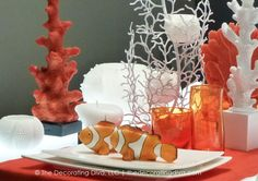 Adore these bold and vivacious orange candles and tabletop decor I spotted at Maison et Objet, Paris.