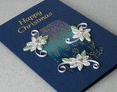 Handgemachte Weihnachtskarte,  Paper quilling