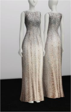 Rusty Nail: White silver sequined dress • Sims 4 Downloads