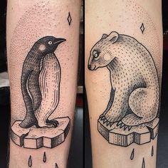 Penguin and Polar Bear Tattoos | Susanne König