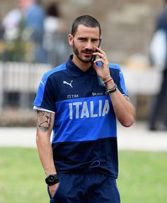 Leonardo Bonucci of Italy looks on prior to the training session at Coverciano on June 05, 2017 in Florence, Italy.