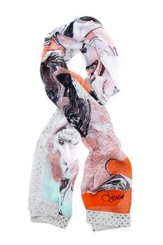 DVF Spencer Embellished Silk Scarf