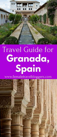 Granada, Spain is a beautiful destination for your next trip. Check out this travel guide for Granda including things to eat in Granada, things to do in Granada, places to see in Granada, Spanish phrases, places to stay in Granada, and much more. Don't forget to save this Granada travel guide to your travel board so you can find it later.