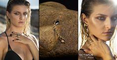 extrim earring & rings OCTOPUS