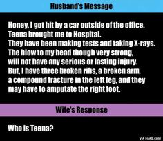 I think this is legit. Unless Teena is like another word for ambulance I'd want to know who the hell this chick is. If she a hoe, then he deserves broken ribs and an amputated foot.