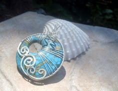 Turquoise GoGo Pendant in Sterling Silver by EdisLittleTreasures, $42.00