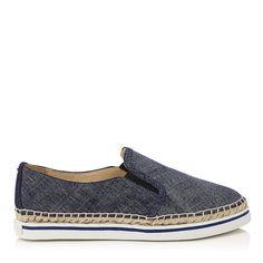 JIMMY CHOO Dawn Light Indigo Denim Leather Espadrilles. #jimmychoo #shoes #s