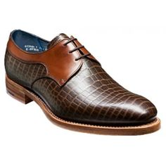 Benedict is part of the men's Creative Collection. These shoes are handcrafted and hand stitched from specially selected calf leathers, fully leather lined with leather insoles and a leather sole. This style has a unique appearance with the Croc and Calf Upper making it very distinctive. http://www.marshallshoes.co.uk/mens-c1/barker-mens-benedict-brown-croc-calf-lace-up-shoe-p4133