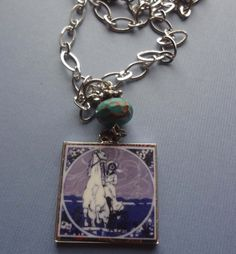 Equestrian Necklace Into the Future Necklace by tinyartjewelry, $20.00