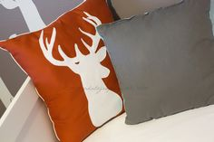Stag pillow for woodland nursery (if it's a boy!)
