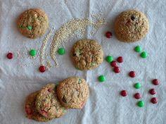 Quinoa Monster Cookies and 25 Quinoa Dessert Recipes - MyNaturalFamily.com #quinoa #recipe
