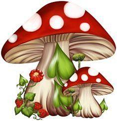 "Photo from album ""КЛИПАРТ - Грибы"" on Yandex. Tole Painting, Fabric Painting, Mushroom Art, Clip Art, Christmas Fairy, Magical Christmas, Rock Art, Cute Drawings, Anchor Drawings"