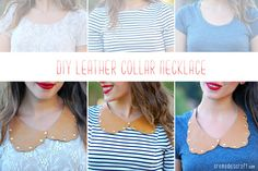 DIY: Studded Collar Necklace From Leather + Paper Fasteners