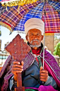 Ethiopia. Priest with the cross Christian Coptic Orthodox in axum-ethiopia by ronnyreportage on Flickr.
