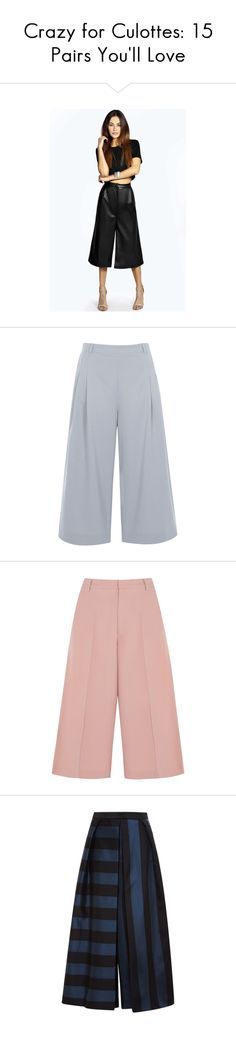 """""""Crazy for Culottes: 15 Pairs You'll Love"""" by polyvore-editorial on Polyvore"""
