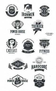 Name: Retro Fitness Logos Retro/Vintage Logo Design. Do you need a professional logo for your business? If yes then visit our website and fill out our form for a quote. We are creative experts in content and design marketing. We are so confident in our ability to provide you the best possible products that we offer our customers 100% Money Back Guarantee on all logo designs.