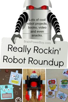 Get all wound up about robots with this Really Rockin' Robot Roundup.  Plenty of great kids activities, LEGO, books and much more for your robot lover. {unit study}