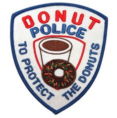 Need donut iron on patch?Finding difficult to find the best donut iron on patch ? Our list of donut iron on patch will give Cool Patches, Pin And Patches, Iron On Patches, Jacket Patches, Punk Patches, Donuts, Police, Do It Yourself Fashion, Custom Patches