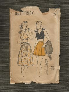 Butterick 4136 from 1947 playsuit